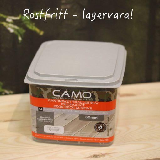 Camo trallskruv - Rostfri A2