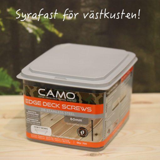 Camo trallskruv - Syrafast rostfri A4